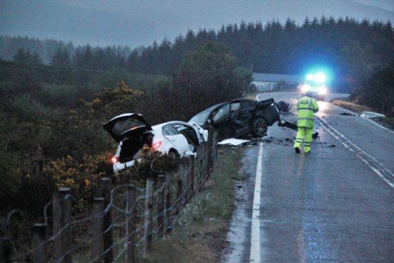 Crash on the A82