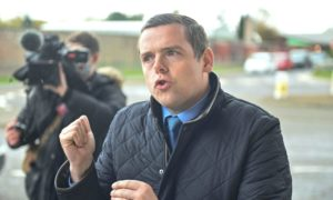 Scottish Tory leader Douglas Ross in Inverness for the regional list count.