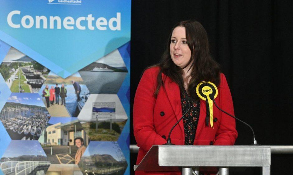 Newly elected MSP Emma Roddick