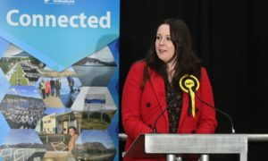 Emma Roddick after the declaration in Inverness.