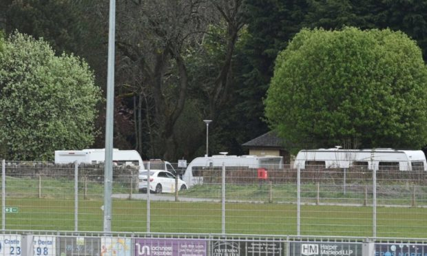 The travellers at Whin Park have left the area.
