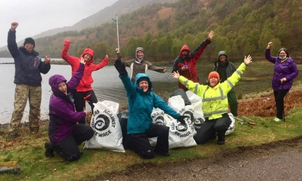 To go with story by Ellie Milne. Penny Clay has set up a beach clean around Loch Leven Picture shows; Love Lochaber Beach Clean. Loch Leven. Supplied by Penny Clay Date; Unknown