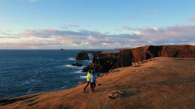 The short clip has said Shetland is the ideal destination for those wanting and overseas staycation.