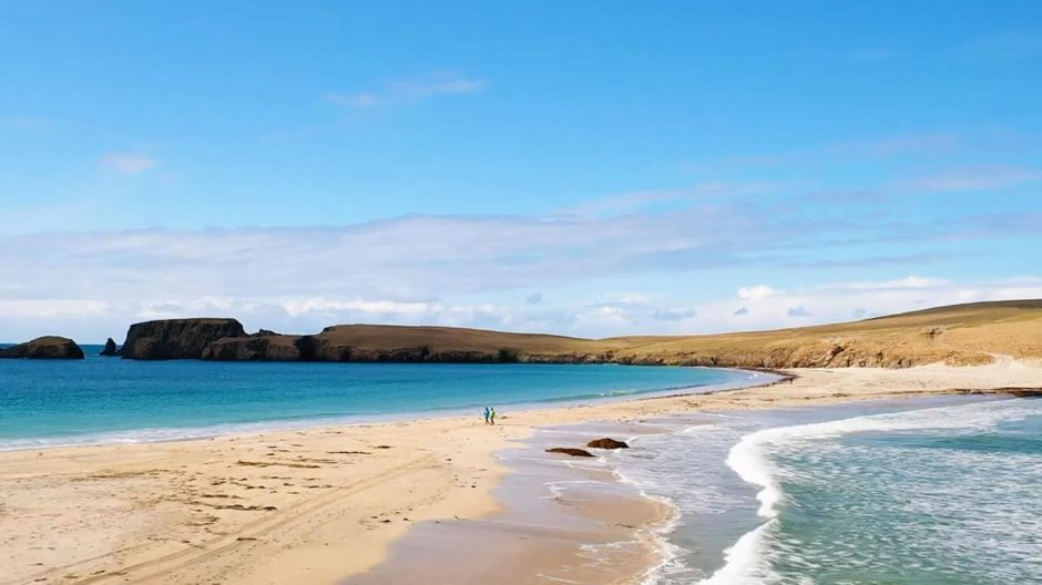 Beach in Shetland
