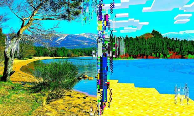A recreation of the Cairngorms in Minecraft