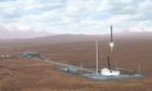 An artist's impression of the planned Sutherland spaceport.