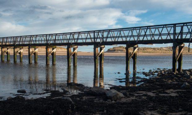 Lossiemouth East Beach bridge.