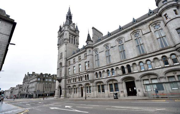 Pictured is a locator of Aberdeen Sheriff Court, Union Street, Aberdeen.