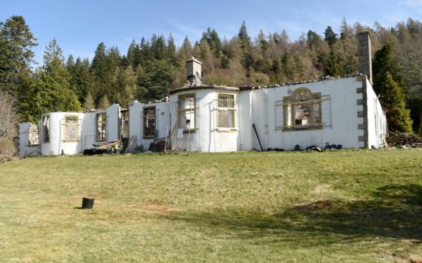Boleskine House on the shores of Loch Ness.