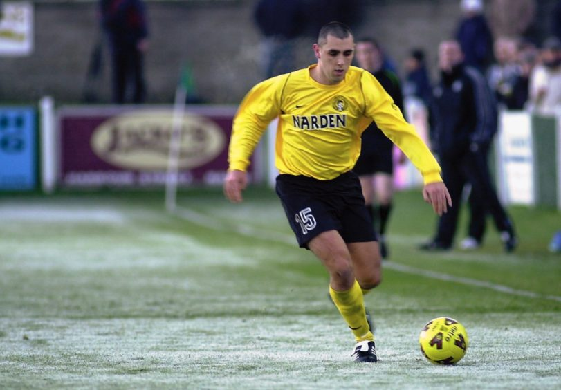 Brian Macleod during his playing days with Nairn County.