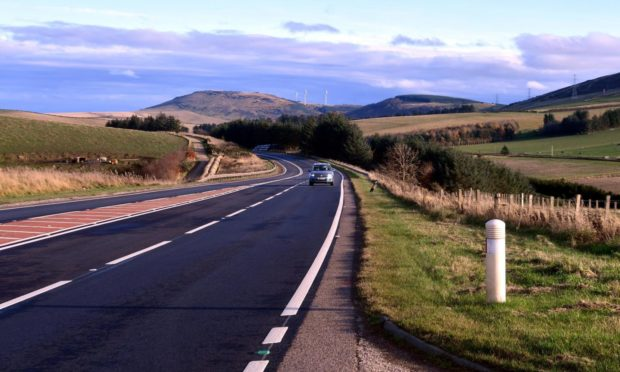 To go with story by Ellie Milne. Overnight surfacing improvements planned for section of A96 at Hill of Skares. Picture shows; A96 between Inverurie and Huntly.. Aberdeenshire. Supplied by DCT Media Date; 12/11/2020