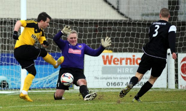 Conor Gethins, left, has returned to Nairn County