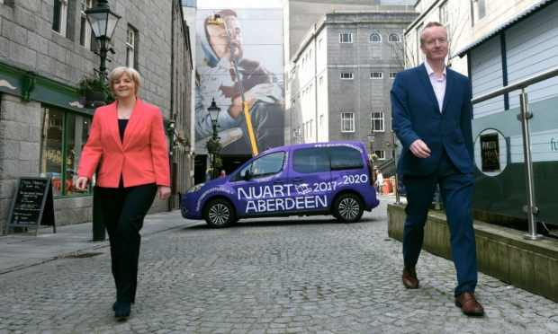 Council leader Jenny Laing and Aberdeen Inspired chief executive Adrian Watson