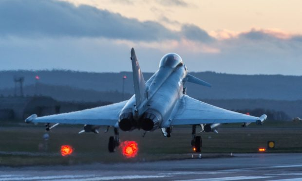 Typhoon fighter jets operate from RAF Lossiemouth.