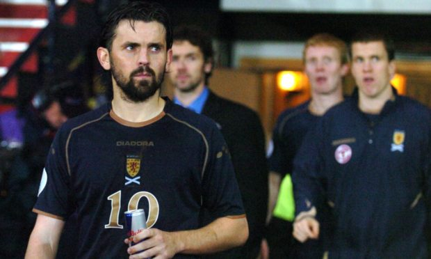 Paul Hartley after Scotland were beaten by Italy in 2007.