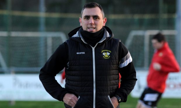 Brian Macleod during his spell in charge of Clach.
