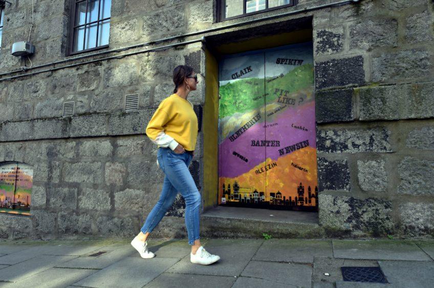 Nuart walking tour near work by Hush on St Andrews Street