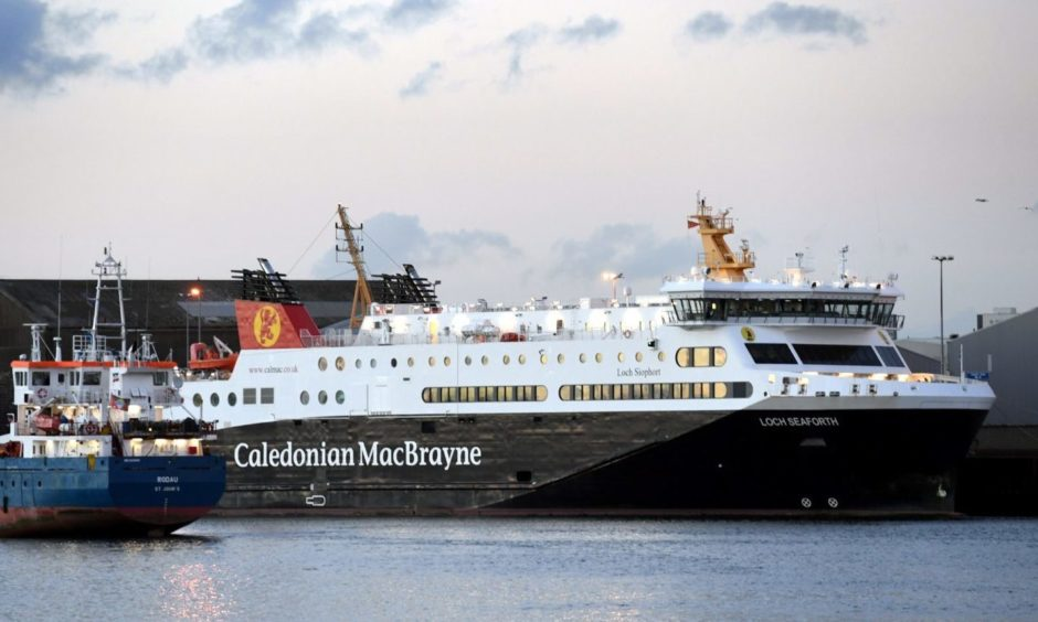 MV Loch Seaforth is being repaired.