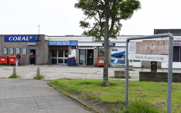 The shops in Kincorth, where the incident took place. Picture by Paul Glendell