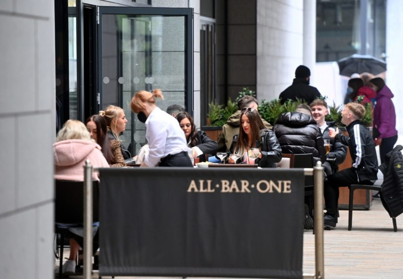People can now enjoy a drink and meet friends inside as lockdown restrictions ease further for the majority of Scotland
