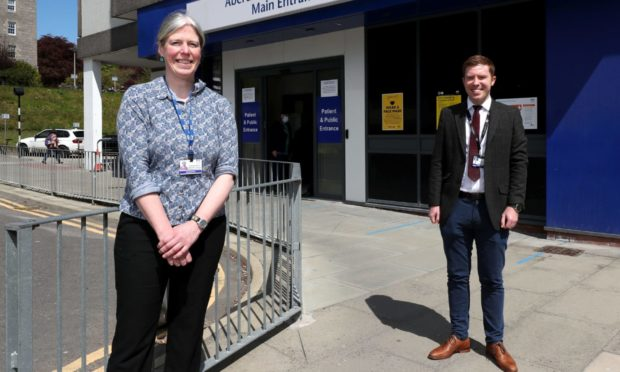 Dr Maggie Whyte and Dr Murray Smith are leading the project to give every person who was in hospital for Covid a mental health screening. Picture by Scott Baxter.