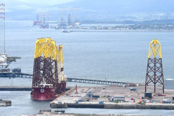The incident happened at the Global Energy facility at Nigg.