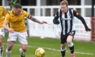 Conor O'Keefe goes on the attack for Elgin City. Photograph by Sandy McCook