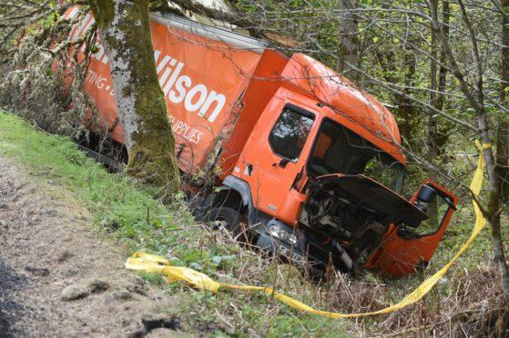 Crash on the A82 near Invermoriston involving a lorry and transit van.