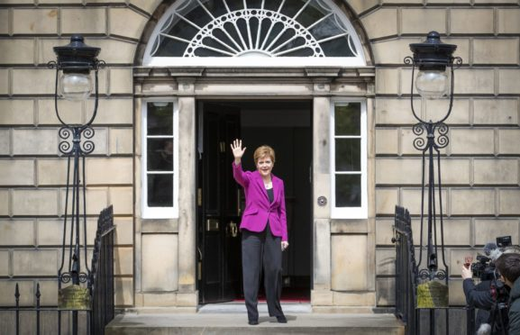 Nicola Sturgeon returns to Bute House after the 2021 Scottish elections