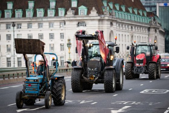 The group held a tractor demonstration in London last year.