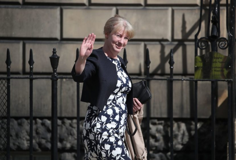 Shona Robison, Cabinet Secretary for Social Justice, Housing and Local Government, arrives for the announcement of the new Cabinet by the First Minister Nicola Sturgeon at Bute House in Edinburgh.