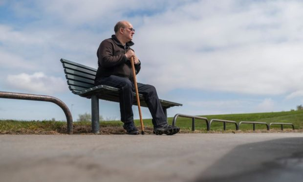 Perry, 57, is only able to leave the house three or four times a month as he struggles with the stairs - having asked for a move to a more suitable council flat three years ago