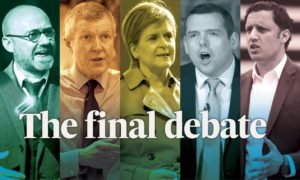 Political leaders ahead of the final BBC debate before the election.