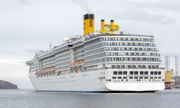 A cruise ship at Port of Cromarty. Invergordon.