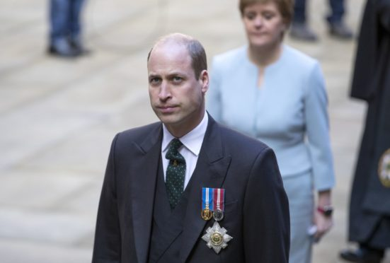 The Duke of Cambridge arrives for the opening ceremony of the General Assembly of the Church of Scotland. Photo: Jane Barlow/PA Wire