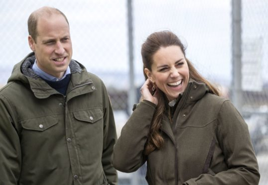 William and Kate on their visit to Orkney. Picture by Jane Barlow/PA Wire