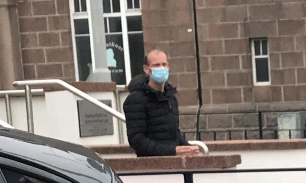 Rory Kerr leaves Peterhead Sheriff Court