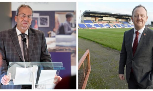 Ross County chairman Roy MacGregor (left) and Caley Thistle chief executive Scot Gardiner.
