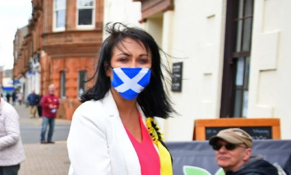 Siobhian Brown on the campaign trail.