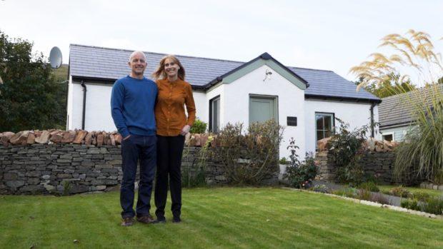 Julie Talbot and her partner Gary of Evrabister in Shetland.