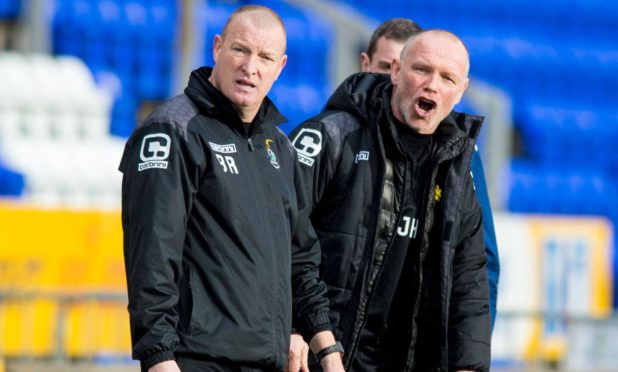 Brian Rice (left) and John Hughes during their time at Caley Thistle.