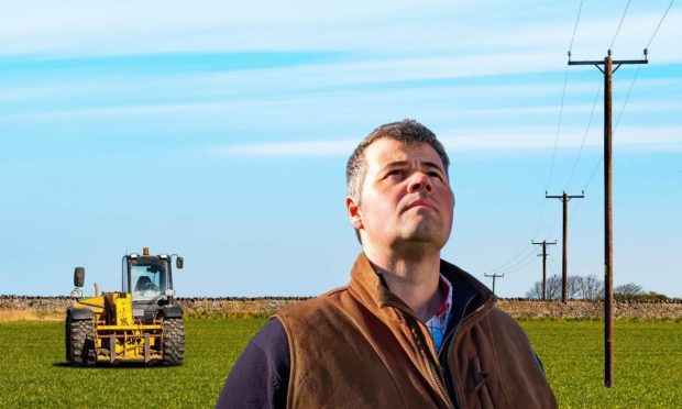 To go with story by Ellie Milne. New campaign gives farmers the heads up to stay safe near power lines. Picture shows; SSEN's farmer-to-farmer safety campaign. Unknown. Supplied by SSEN  Date; Unknown