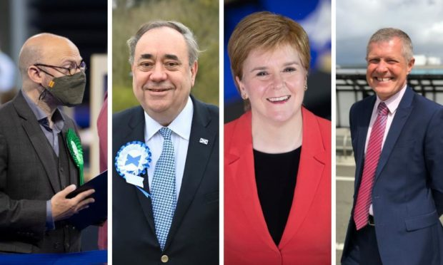 Patrick Harvie, Alex Salmond, Nicola Sturgeon and Willie Rennie.