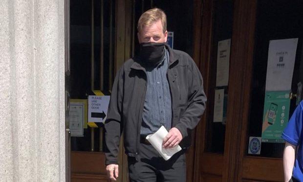 Scott Smollet leaving court.