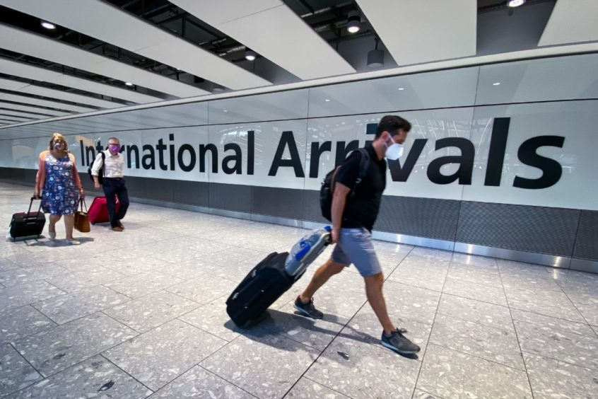 Flights to green list countries from Scotland have started back up