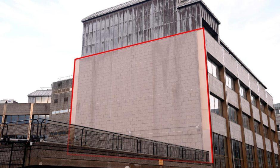 Nuart wall at the Meridian, Union Row.