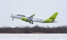 One of airBaltic's A220-300 aircraft.