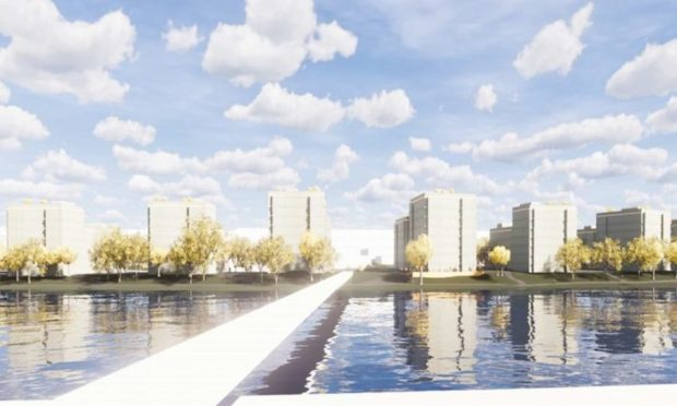 Concept images of the new riverside flats planned for South Esplanade West, Torry, Aberdeen