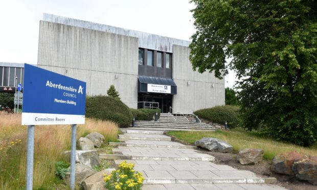 Aberdeenshire Council's Woodhill House headquarters has been shut down after a suspected legionella find.