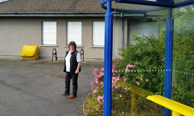 Councillor Gillian Owen at Ellon Park and RIde.